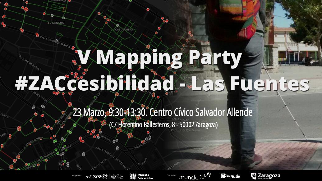 Próxima V mapping party #Zaccesibilidad en Las Fuentes